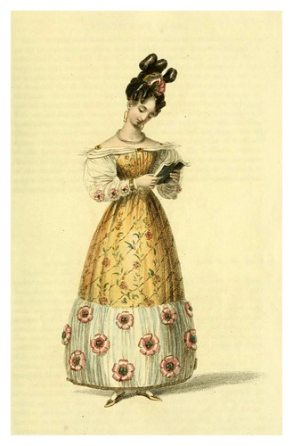 020-Vestido de tarde 1828-The Repository of arts, literature, commerce, manufactures, fashions and politics 1809-1829- Ackermann Rudolph