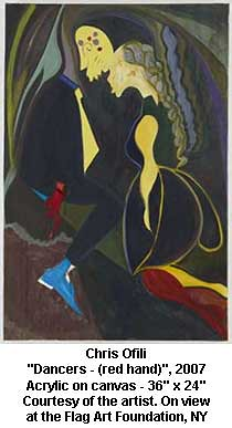 """Chris Ofili - """"Dancers - (red hand)"""", 2007 by artimageslibrary"""