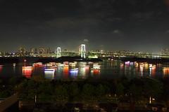 Odaiba,Tokyo at Night ( Spice (^_^)) Tags: city bridge sea color art japan night canon reflections geotagged photography eos lights tokyo photo asia flickr image wordpress ships picture blogger livejournal explore   odaiba    rainbowbridge facebook         tumblr   canoneos5dmark  2011