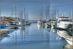 (David Gilson) Tags: sea marina boats nikon niceshot harbour gibraltar ports oceanvillage blueazul bluestblue berths