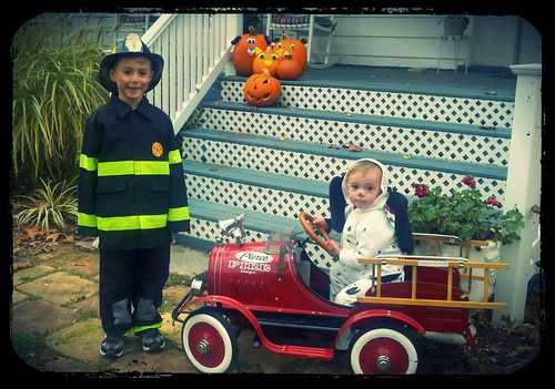 My firefighter & Dalmatian to the rescue!