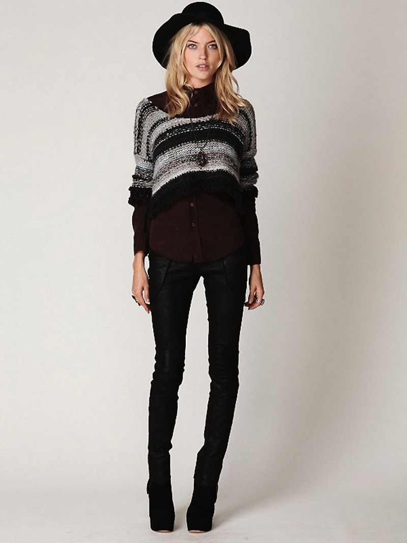 Free People multi-color striped sweater 1c