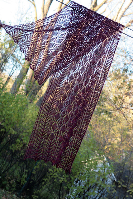 Mom's Fairview Shawl in Red Label Garnet