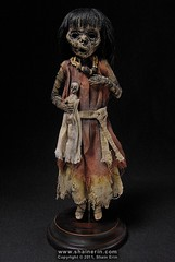 Mummy Art Doll Sculpture  M40 (Shain Erin) Tags: sculpture art mixedmedia ooak fineart tribal artdoll mummy oddity mummydoll worldart shainerin