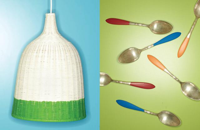 dip diy spoons and lamp