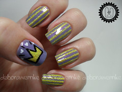 Nail Art - Cute Crown + Tutorial (DboraWernke) Tags: princess crown tutorial nailart unha colorama