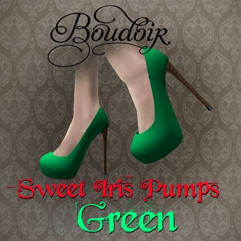 Sweet Iris Pumps Green - Boudoir, 200 lindens by Cherokeeh Asteria
