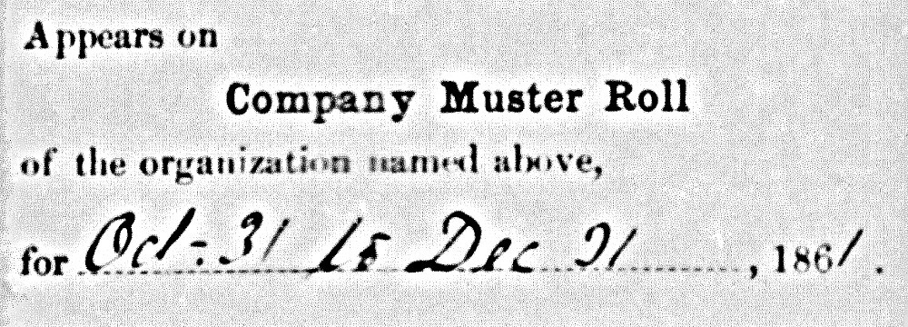 Claiborn Perry, Jr Muster Roll Sick