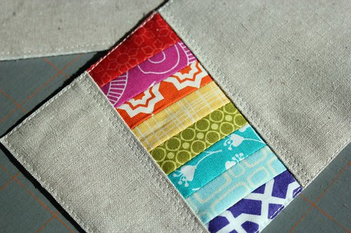 pretty little pouch. in progress. what you you think, partner?