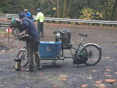 Ed loads up his cargobike
