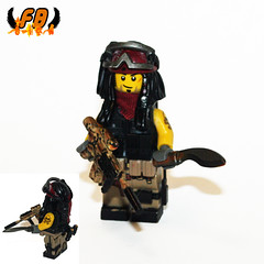 Private Military Contractor - Capt Jack 1 (Brick Mercenaries Custom Minifigures) Tags: military prototype piratesofthecaribbean proto jacksparrow brickarms brickforge privatecontractor minifigcat tinytactical