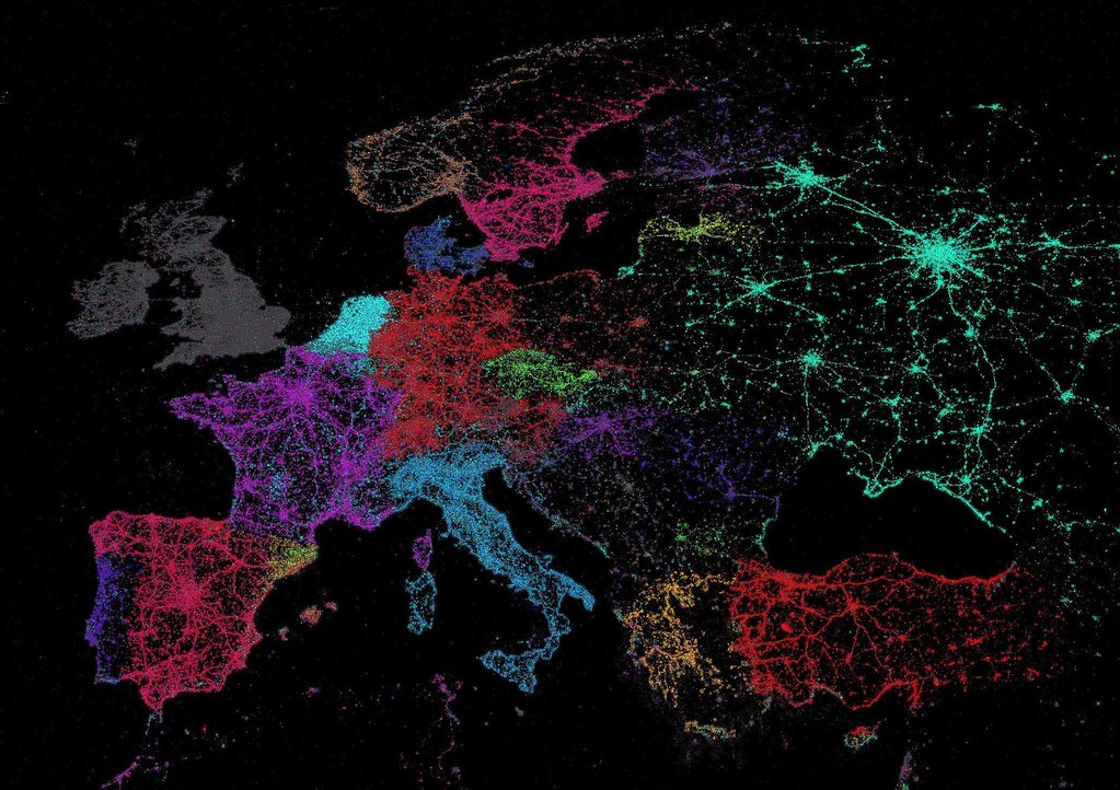Vive le tweet a map of twitters languages big think croppedeurope gumiabroncs Image collections