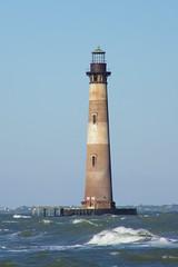 Morris Island Lighthouse (Charleston, South Carolina) (cseeman) Tags: ocean lighthouse beach water southcarolina charleston follybeach atlanticocean morrisisland morrisislandlighthouse