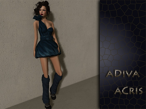 aDiva couture Acris Blue