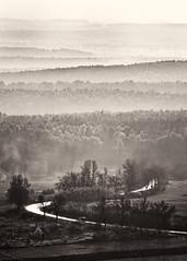 Winding road (warmianaturalnie) Tags: road bw white black explore winding świętokrzyskie