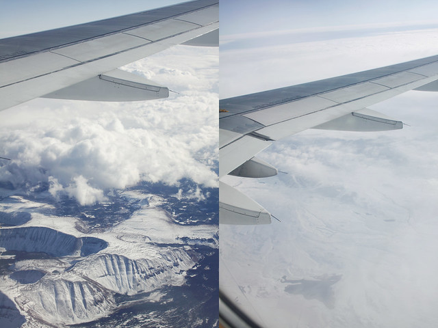 airplane window diptych 8