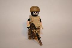 modern warriors, assault rifle (kenneth nielsen a.k.a Qenhyt) Tags: modern soldier mod lego rifle assault warriors minifig custom ak47 silenced brickarms