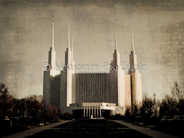 Washington D.C. Vintage LDS Temple Prints -