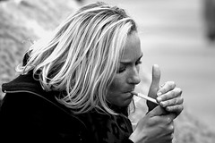 Light My Fire, The Girl Smoking (Loc BROHARD) Tags: street portrait cigarette smoke streetphotography candis