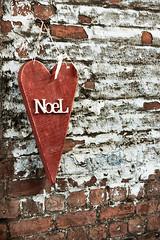 The First Noel (DevilFishMark) Tags: christmas xmas holiday wall festive season holidays heart noel holidayseason 2011 a700 thefirstnoel