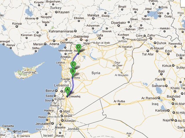 Damascus to Aleppo