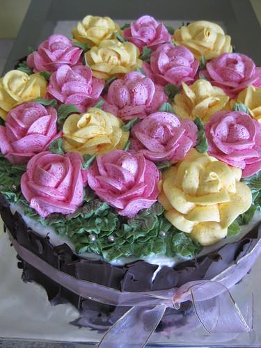 Rose Bouquet Cake - Yanti #1