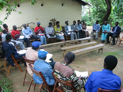 Aquaculture training session, Cameroon. Photo by Randall Brummett, 2004
