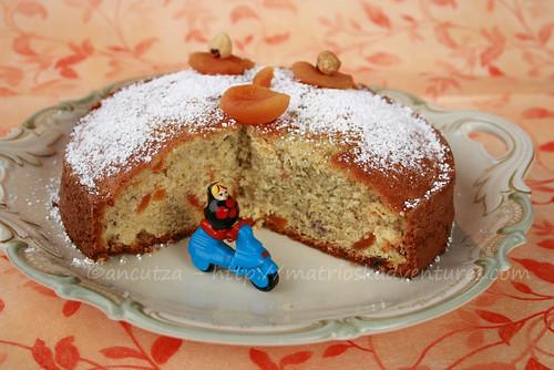 ricetta con foto torta dolce di patate viola vitelotte e albicocche secche