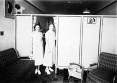 Ladyfair beauty shop. Kay MacDonald (left) and Florence Johnson (right).