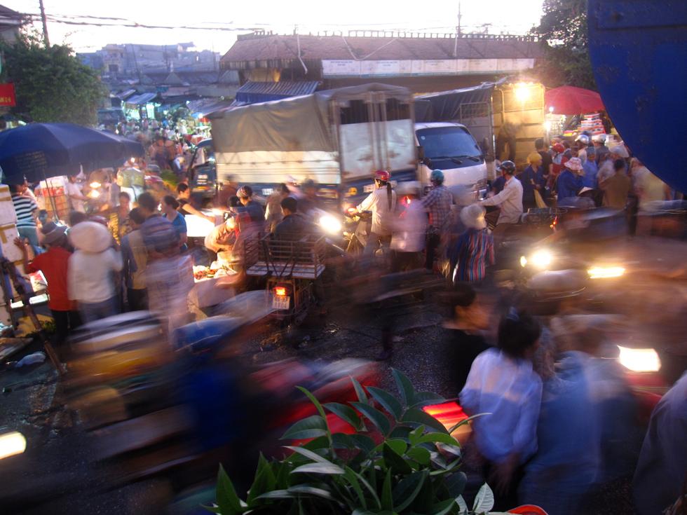 Chaos at the Long Bien Market