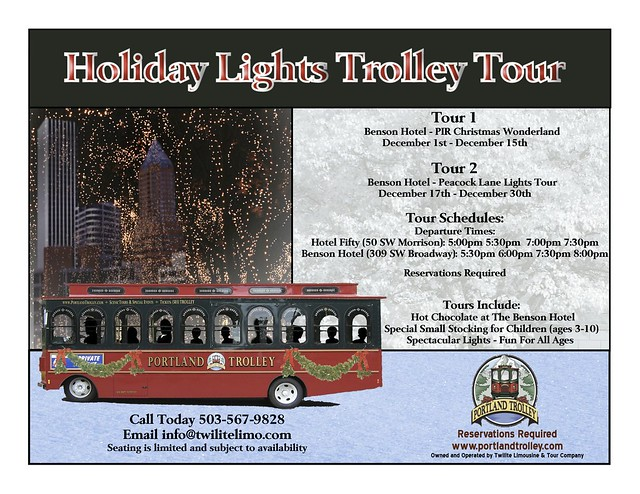 Portland Holiday Trolley Flyer