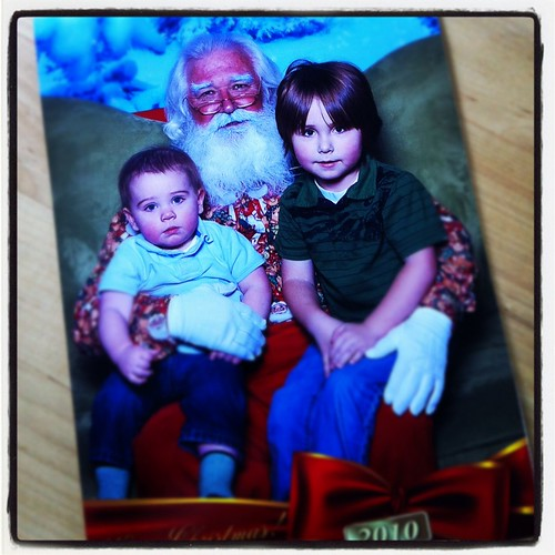 Mall Santa pictures are just terrible.