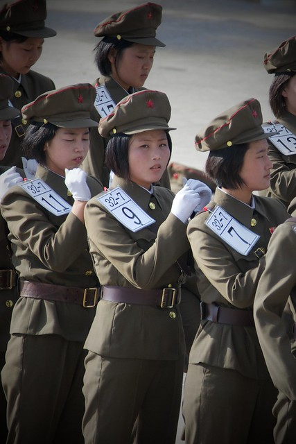 North Korean Marching Practice