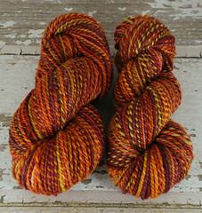 "Western Sky Knits' ""Autumn Tundra"" 8.5oz 2ply Polwarth handspun yarn"