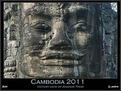 Cambodia 2011 (pharoahsax) Tags: world get colors canon temple gate asia asien cambodge cambodia kambodscha sdostasien faces south victory east thom angkor bodhisattva tempel stonefaces 2011 gesichter lokeshvara 40d steingesichter pmbvw worldgetcolors