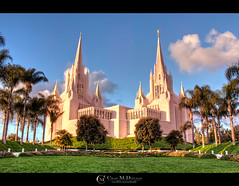 Mormon Temple (LDS) - San Diego (Chad McDonald) Tags: california ca trees sunset grass architecture landscape temple worship flickr cityscape sandiego god chad religion stainedglass lajolla mormon lds mcdonald
