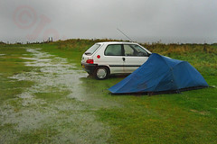 ABC (Alphabet By Camera) #23 (W) - WATERLOGGED!!!  Wet Weather!!!!  That must be www. ............ (Jonny Hirons) Tags: camping wet rain weather puddle raining campsite