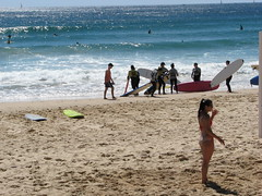 IMG_20111127_2814 (Cecilia Bell) Tags: ocean summer people beach water surf waves walk manly sydney bikini volleyball surfboards lifeguards