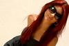 Jennifer - Óculos de Sol! (vanessa.manini) Tags: jennifer flor sorriso menina 15anos cheirando