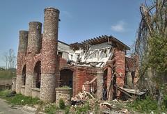 The Scene (Naaman Fletcher) Tags: brick castle abandoned fire al birmingham ruins urbandecay alabama icecream twister pillars tornado urbanexploring urbex forestdale