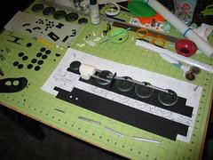 Locomotive Cake (Assembling the Side Panels) (RDPJCakes) Tags: 3d fondant traincake sculptedcake ossas rdpjcakes locomotivecake