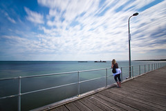Waiting... (picpockett) Tags: sky beach waiting slowshutter beaumaris nd110