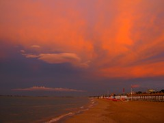 hell above (SS) Tags: above light sunset red sea summer vacation sky italy white seascape storm hot reflection tree beach water beautiful weather june clouds composition canon landscape photography grey hotel evening vanishi