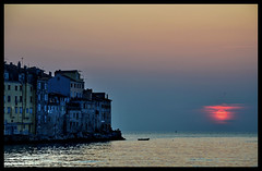 sunset in rovinj (klaus53) Tags: sunset sea nikon croatia rovinj istria istrien blinkagain