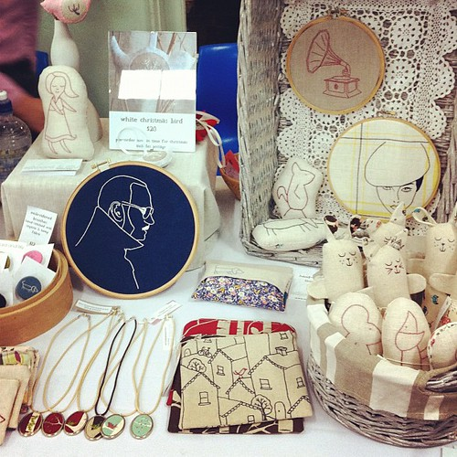 My little stall at the @BrisStyle indie mother & child market today :)