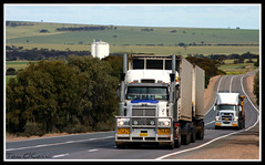 N.R.L. (Tom O'Connor.) Tags: road up port train truck canon way lens eos star eagle south country under twin australia down double international national western link land wakefield outback trucks kit sa making services trucking truckers aset lochiel 2011 hummocks 1000d