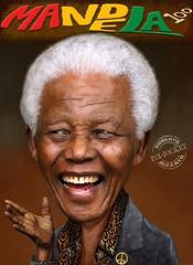 We'll never forget your smile, Madiba! (The PIX-JOCKEY (visual fantasist)) Tags: portrait art photoshop painting arte joke fake manipulation vip photomontage chop draw ritratto mandela nelsonmandela madiba fotomontaggi dipinto robertorizzato pixjockey