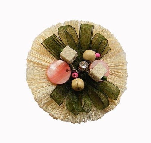 Linen Flower ,hair accessories