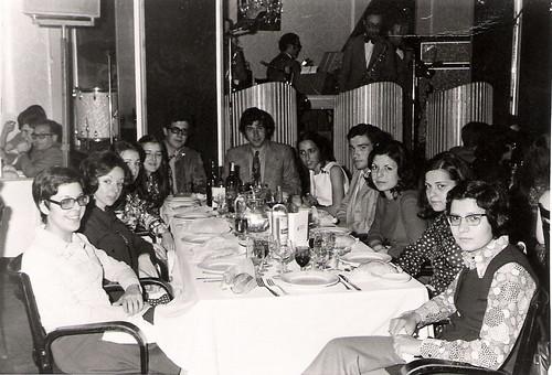 Javier Aranda en la cena de fin de C.O.U.