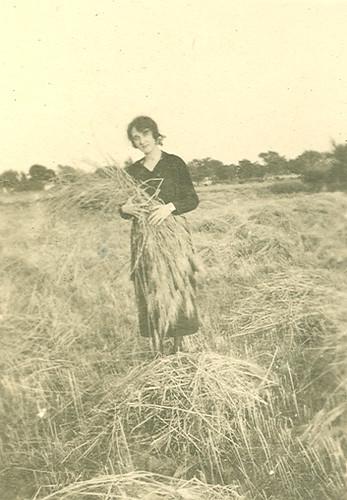 Carmen Bellido en el campo